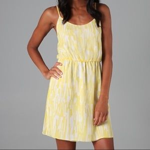 Alice + Olivia Elizabeth Tank Yellow Silk Dress
